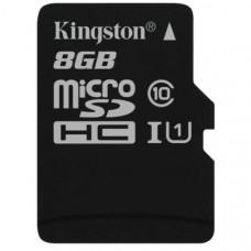 Карта памяти Kingston microSDHC 8GB Class 10 UHS-I R45/W10MB/s + SD адаптер